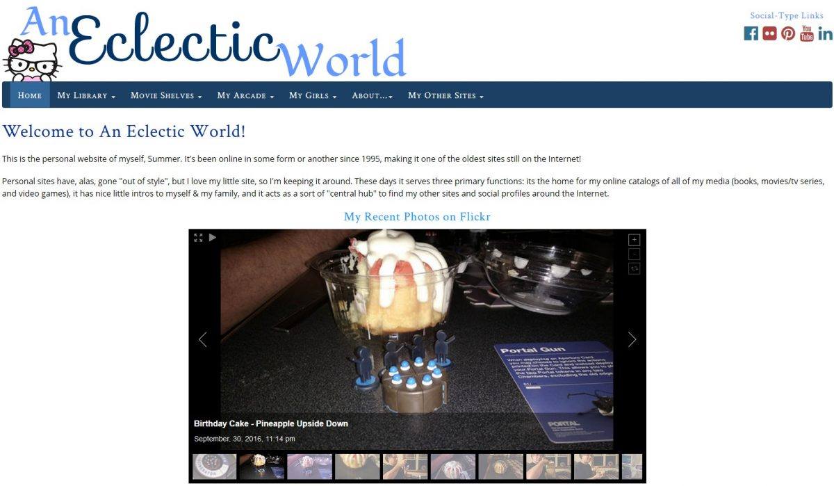 An Eclectic World Recode: Front Page With Flickr